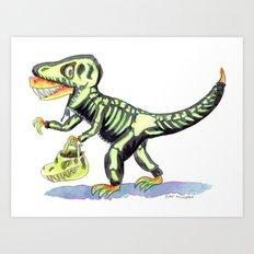 T. Rex's Halloween Art Print