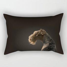Airedale Terrier dog Rectangular Pillow