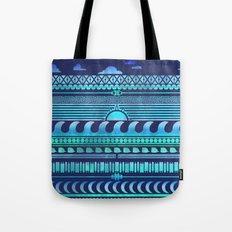 Aqua | Tribal Tote Bag