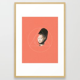 NOT Portrait of a Young Girl Framed Art Print