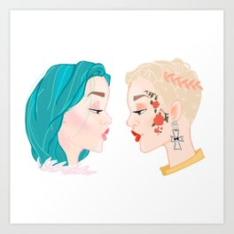 Two Halseys Art Print
