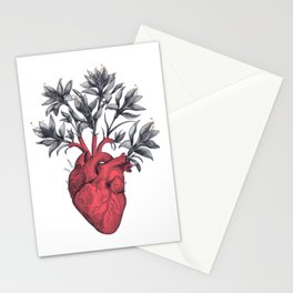 Blooming heart Stationery Cards