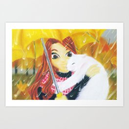 Found You (Paint Daubs Effect) Art Print