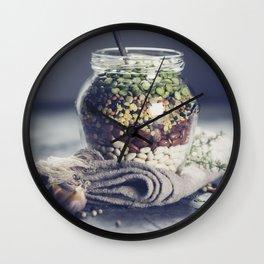 Lentils Wall Clock
