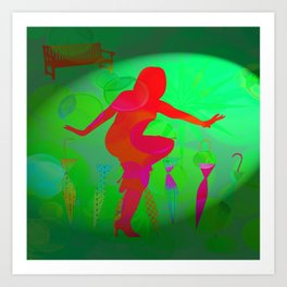 Brolly Boogie Art Print