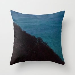 Half half Throw Pillow