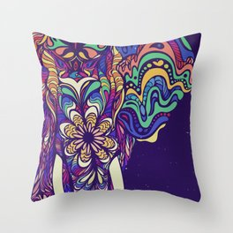Not a circus elephant #violet by #Bizzartino Throw Pillow