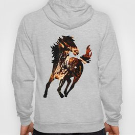 horse splatter watercolor Hoody