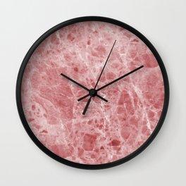 Juliette rosa deep pink marble Wall Clock