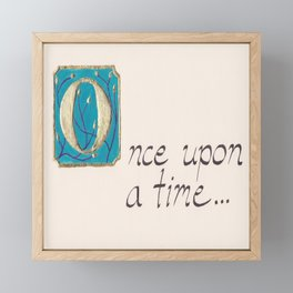 Once Upon a Time Framed Mini Art Print