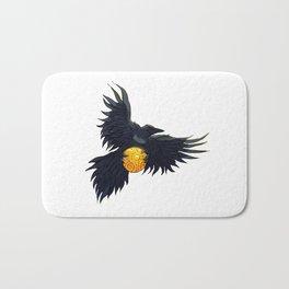 Crow Grabbing Sphere Bath Mat