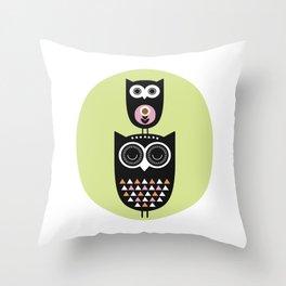 Owl nursery art Throw Pillow