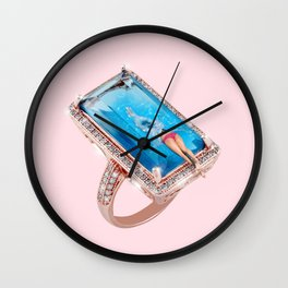 Diamond Pool Wall Clock