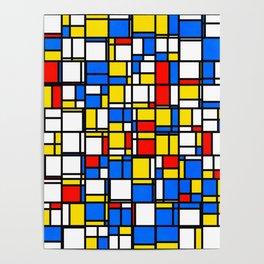 Mondrian Style 2 Poster