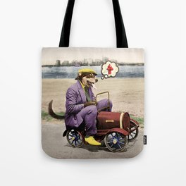 Barkin' Down the Highway! Tote Bag