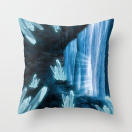 Crystal Planet Throw Pillow