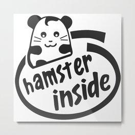 hamster inside Metal Print