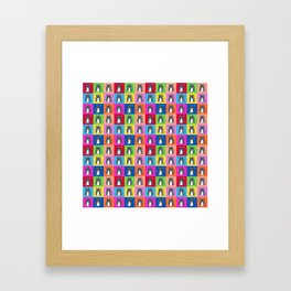 Pussy Cat illustration pattern Framed Art Print