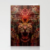 jaguar Stationery Cards featuring Jaguar by Zandonai