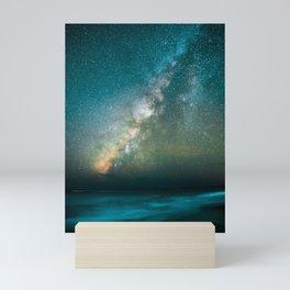 Gorgeous Blue Crystal Galaxy Mini Art Print