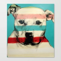 rocky Canvas Prints featuring Rocky by Carly Casey