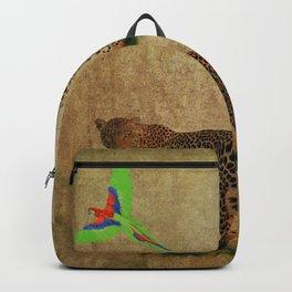 Parrot Flight Through Leopards Backpack