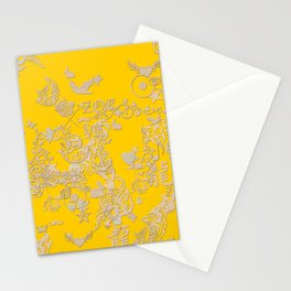 yellow tattoo Stationery Cards