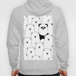Polar bear and panda cartoon Hoody