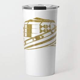 Colombian Sombrero Vueltiao in Gold Leaf Style Travel Mug