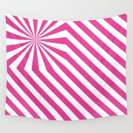 Stripes explosion - Pink Wall Tapestry