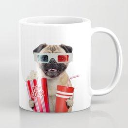 Pug watching a movie Coffee Mug