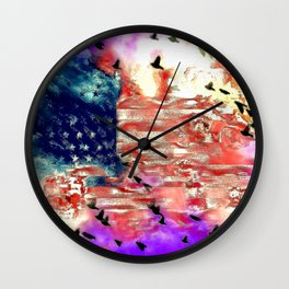 The American Flag Painted Wall Clock