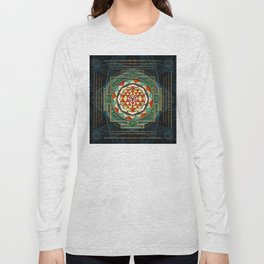 Maha Lakshmi (Laxmi) Mantra & Shri Yantra - Wealth Giving Long Sleeve T-shirt