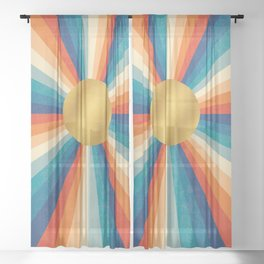 Retro Sun #21 Sheer Curtain