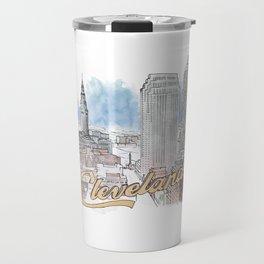 Cleveland, Ohio Travel Mug