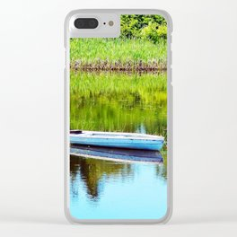 Boat on the Pond Clear iPhone Case