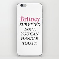 britney iPhone & iPod Skins featuring Britney Survived, Britney. by eriicms