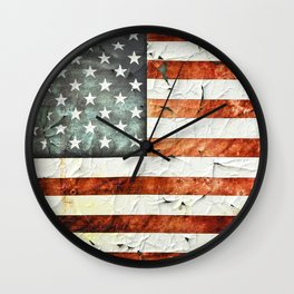 Painted Stars And Stripes Wall Clock