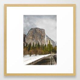 El Capitan in Winter Framed Art Print