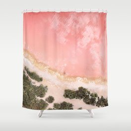 iOS 11 Rose Gold iPad background Shower Curtain