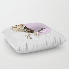 Female Sparrow in Pink (c) 2017 Floor Pillow