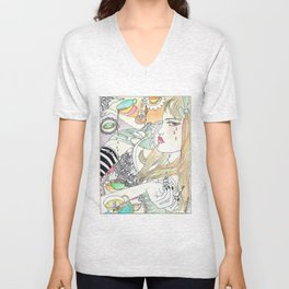 Alice In Wonderland Unisex V-Neck