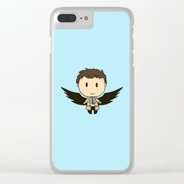 Cas With Wings Clear iPhone Case