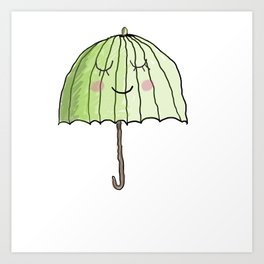 cute UMBRELLA Art Print