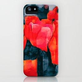 Tulip Field at Night iPhone Case