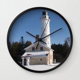 Canna Island Lighthouse - Winter Wall Clock
