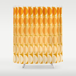 Leaves at autumn - a pattern in orange and brown Shower Curtain