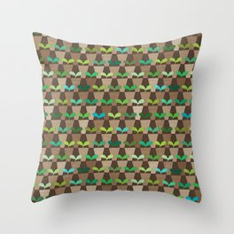 Grandmother's Pot Garden Throw Pillow