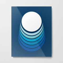 Ocean Crescent Metal Print