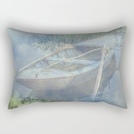 Lonely again in the fog Rectangular Pillow